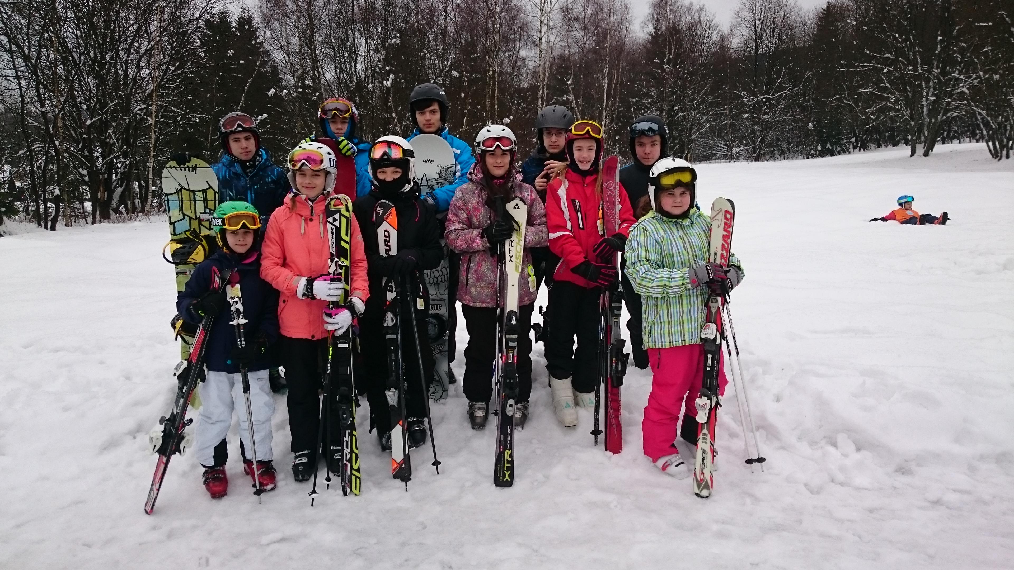 Pozdrav z lyžařského kurzu